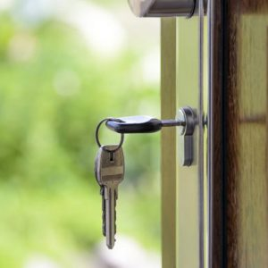 Keys to the Front Door of a Rental Home