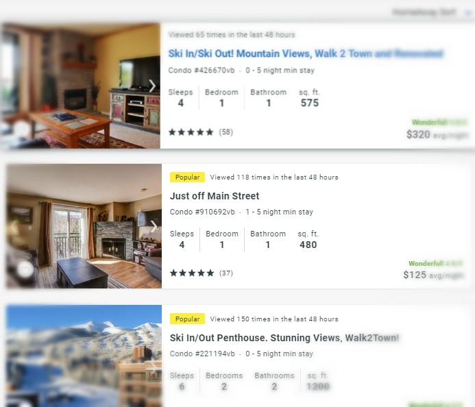 Vacation Property Headlines on HomeAway